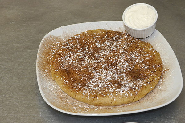 Cinnamon Sugar Pizza with butter icing dip